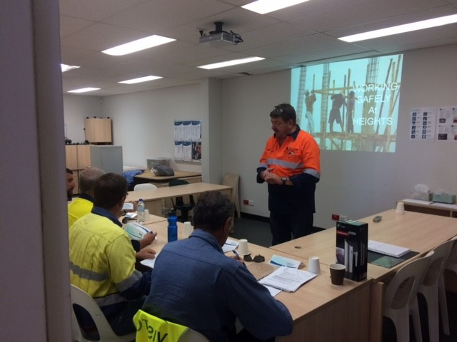 Globe CA Trainer delivering first training course at UGL's Henderson Facility